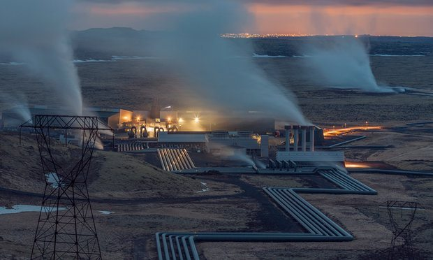 Hellisheiði geothermal plant, Iceland. Photograph Pedro Alvarez for the Observer